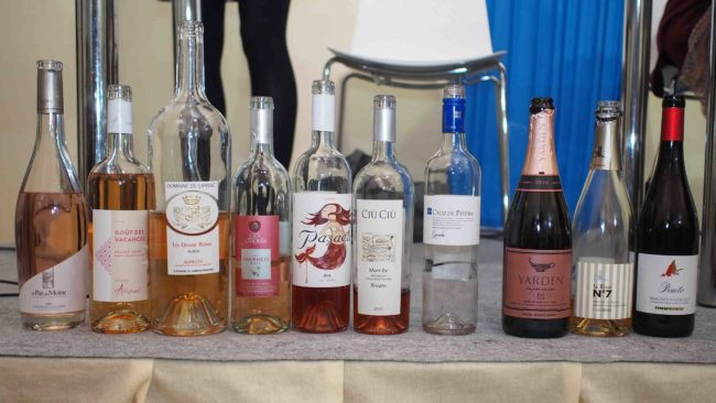 Rosé wines served at Vinisud masterclass