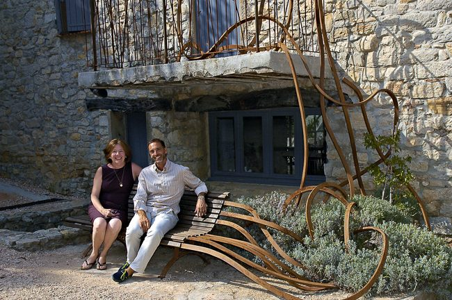 Alban Cacaret, director daily operations at Château Peyrasso, and me, Provence WineZine Publisher and Editor.