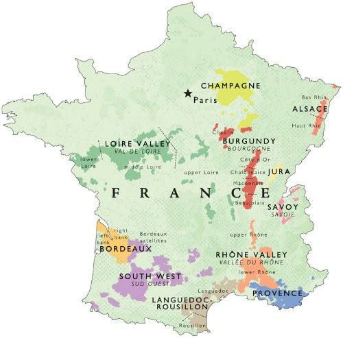 France Wine Map Outline Provence Winezine