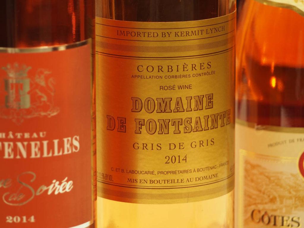 Domaine de Fontsainte Gris de Gris rosé. Photo by W.T. Manfull