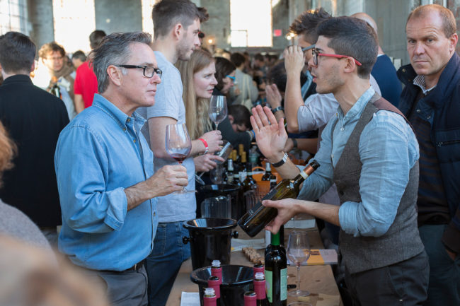 At the Raw Wine Fair in Brooklyn. Photo by Tom Moggach